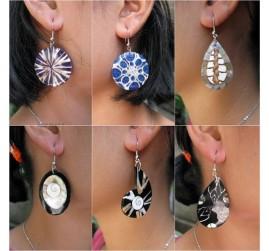 6model unique resin seashells earrings handmade