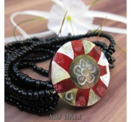 bracelets beads pendant seashells stretch carving