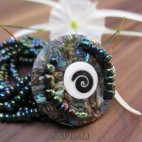 bracelets beads pendant seashells stretch paua