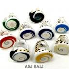handmade rings tiger shells with nautilus