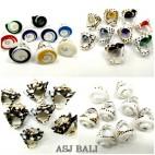 mix designs seashells finger rings handmade