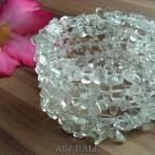 cuff beads bracelets stone crystal bali beige