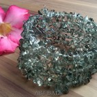 cuff beads bracelets stone crystal grey bali