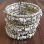 cuff beads bracelets stone natural handmade
