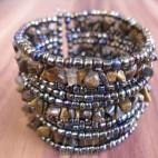 cuff beads bracelets stone paua abalone
