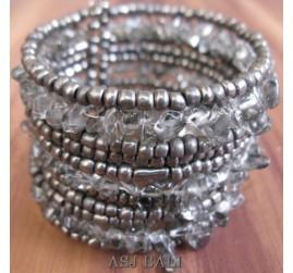 cuff beads bracelets stone silver bali