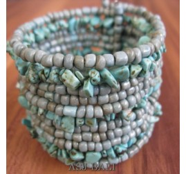 cuff beads bracelets stone turquoise