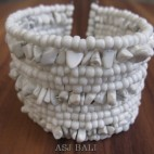 cuff beads bracelets stone white color