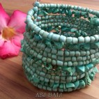 handmade bracelet beads cuff link stone turquoise