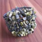 stone beads cuff bracelets antiq color bali