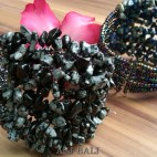 stone beads cuff-bracelets black color bali