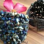stone beads cuff bracelets blue color bali
