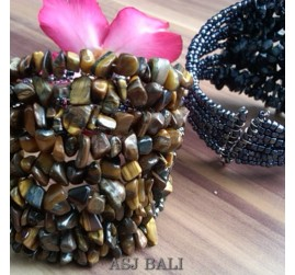 stone beads cuff bracelets golden color bali