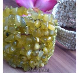 stone beads cuff bracelets green colo -bali