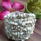 stone beads cuff bracelets white color bali