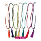 all color wooden tassel solid color handmade
