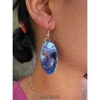 wooden earrings hand painting design