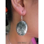 balinese wood earrings hand painting design