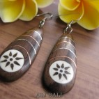 natural wooden earrings hooked handmade tattoo