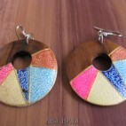 wooden earrings hand painted bali handmade