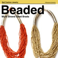 Bali Beaded necklaces Multi Seeds
