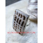 Tiger Rings Shells Silver 925