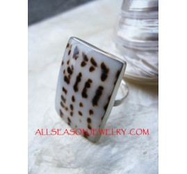 Tiger Rings Shells Silver 925