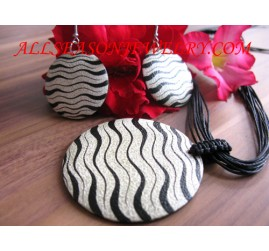 Zebra Painted Necklaces