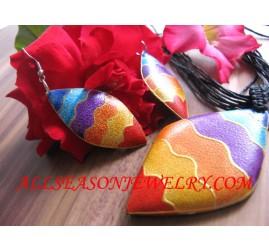 Rainbow Painted Pendants