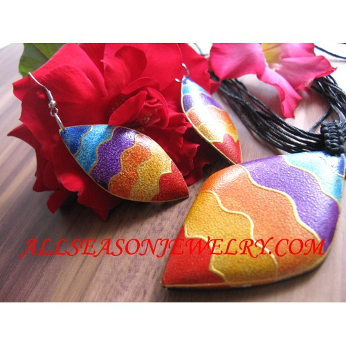 Rainbow Painted Pendants