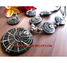 Jewellery Set Necklaces Pendant Seashells with Earrings