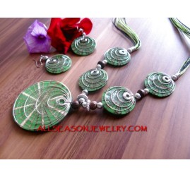 Green Resin Pendants