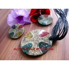 Resin Set Jewelries Necklaces Pendant Earrings