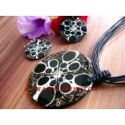 Jewellery Necklaces set Pendant Resin with Earrings