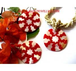 Bali Necklaces Sets Seashells Handmade Painting