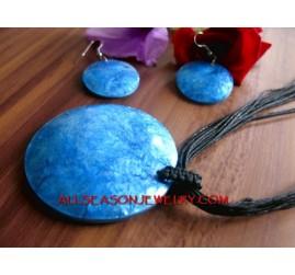 Capiz Necklaces Pendant