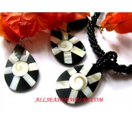 Tears Droop Style Shells Necklaces Pendant Sets Earrings