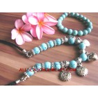 Fashion Jewelry Set Two necklace bracelets Stone