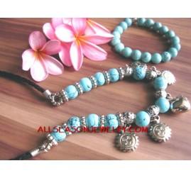 Fashion Jewelry Set Two necklace bracelets Stone