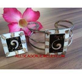 Shells Bracelet Ring Sets