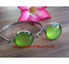 Capiz Resin Bracelet Rings