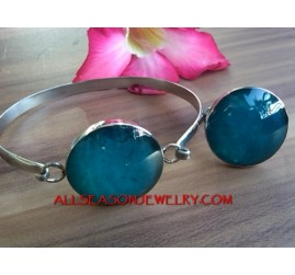 Ladies Bracelet Resin Set Ring Stainless Steels