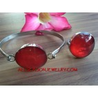 Resin Bracelet Sets Rings