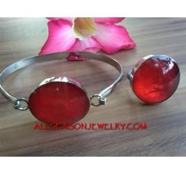 Resin Bracelet Sets Rings
