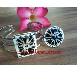 Seashells Bracelet Ring Sets Handmade Bali