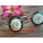 Nautilus Abalone Shells Bracelet Stainless Steels Rings Set
