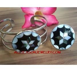Resin Shells Ring Bracelet