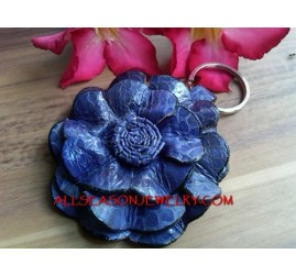 Leather Key Rings Flower