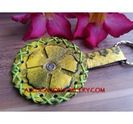 Leather Flower Key Holder