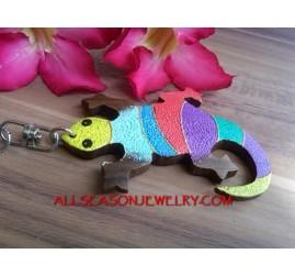 Keychain Gecko Hand Paint